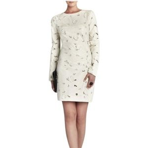 NWT BCBGMAXAZRIA Cream Jillea Embroidered Dress